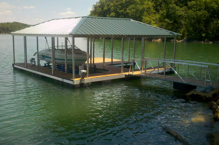 Dock Builders on Norris Lake