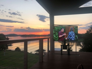 Retractable Outdoor TV Lift for Decks and Patios